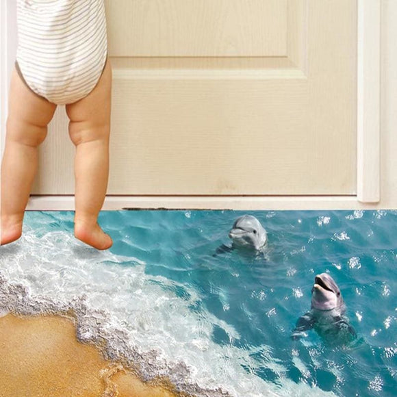 Dolphins in the Sea Vinyl Wall & Floor Decal