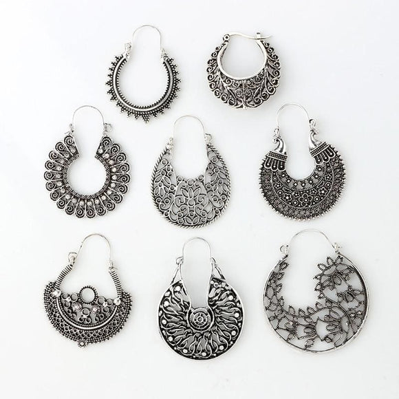 Drop Hollow Out Boho Earring - SKU4457