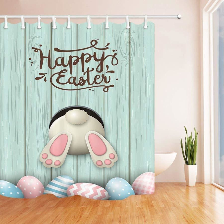 Easter Bunny Shower Curtain And Mat Set