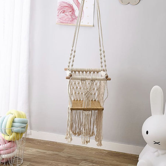Elegance Tassel Children Swing