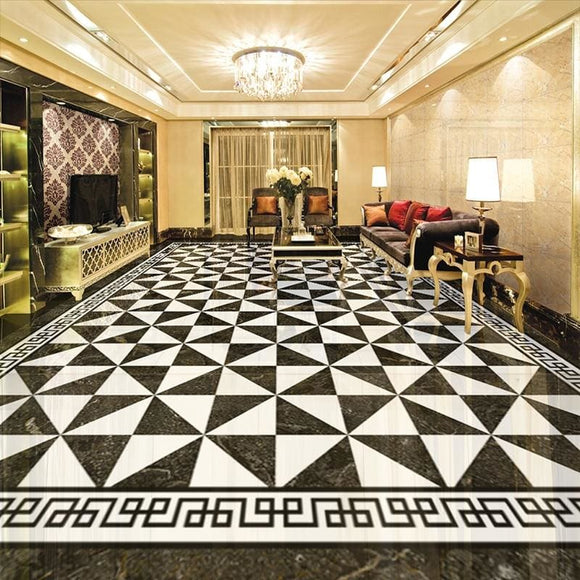 European Style Check Floor Decal