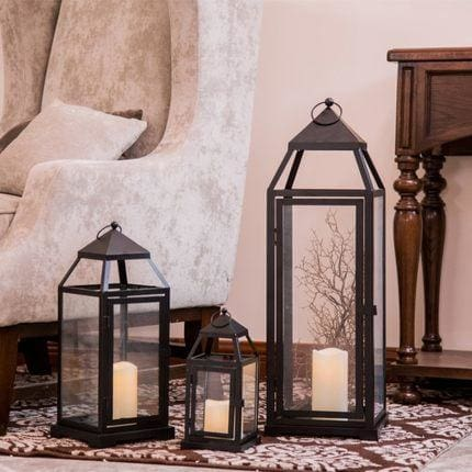 European Wrought Iron Floor Candle Holders