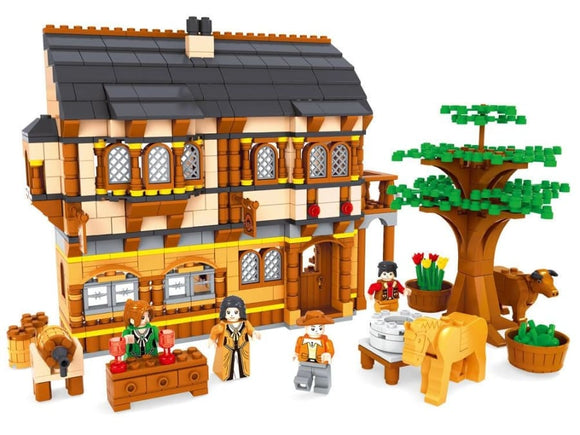 Farm House Building Blocks Set