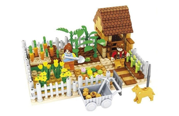 Farm Market Vegetable Patch Building Blocks Set