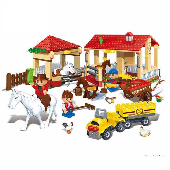 Farm Yard Building Blocks Set