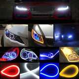 Flexible Car LED Soft Tube Decorative External Light x 2 - White