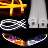 Flexible Car Led Soft Tube Decorative External Light X 2 - Yellow