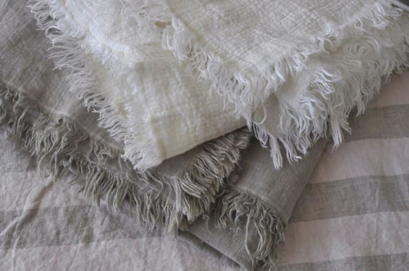 French Linen Blanket
