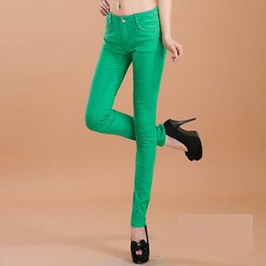 Fun Color Stretchy Pencil Pant
