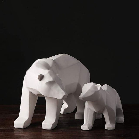 Geometric Polar Bear Figurine