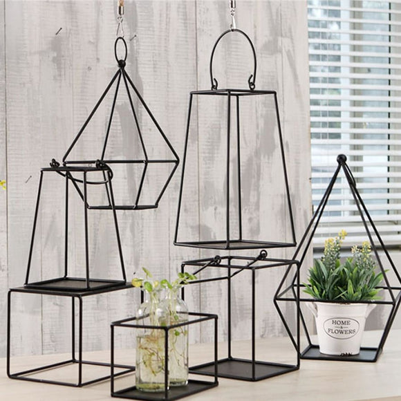 Geometric Style Hanging Plant Container - 01