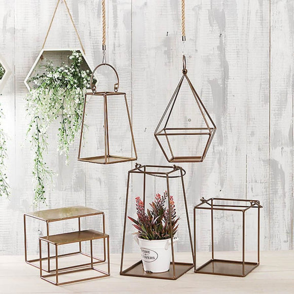Geometric Style Hanging Plant Container