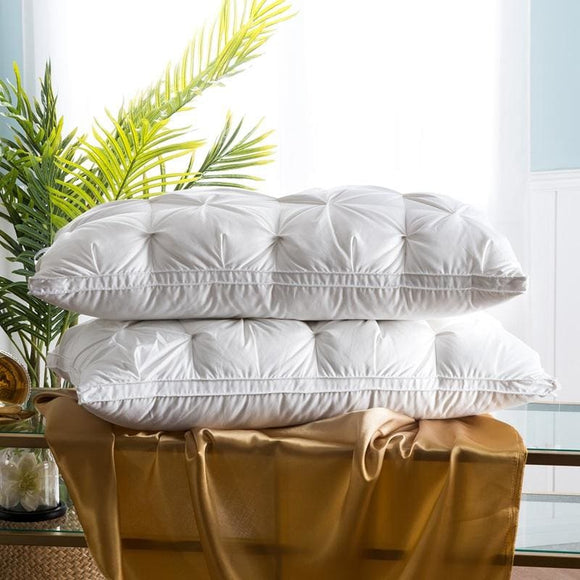 Goose Down Bed Pillow - White 48x74cm