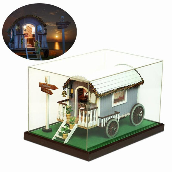 Gypsy Caravan With Furniture Lights Dust Cover Dollhouse