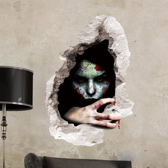 Halloween - Person in the Wall - Vinyl Wall Decal - C