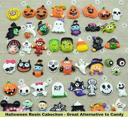 Halloween Resin Cabochon - Great Alternative to Candy