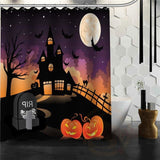 Halloween Shower Curtain - Brown / 72X72Inch