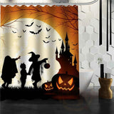 Halloween Shower Curtain - Burgundy / 72X72Inch