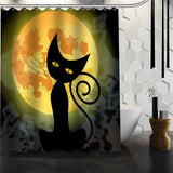 Halloween Shower Curtain - Dark Khaki / 72X72Inch