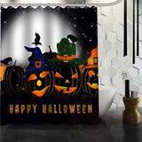 Halloween Shower Curtain - Green / 72X72Inch