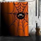Halloween Shower Curtain - Orange / 72X72Inch