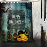 Halloween Shower Curtain - Red / 72X72Inch