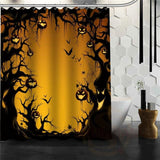 Halloween Shower Curtain - Sky Blue / 72X72Inch