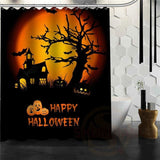 Halloween Shower Curtain - White / 72X72Inch