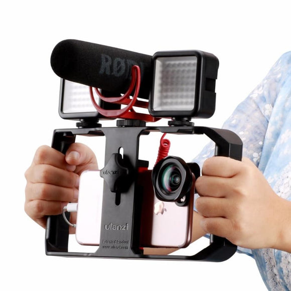 Handheld Phone Video Stabilizer Grip Tripod Mount Stand