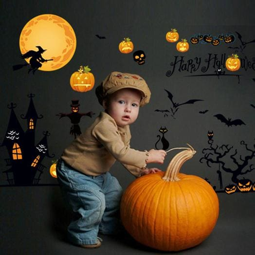 HAPPY HALLOWEEN Vinyl Wall Stickers