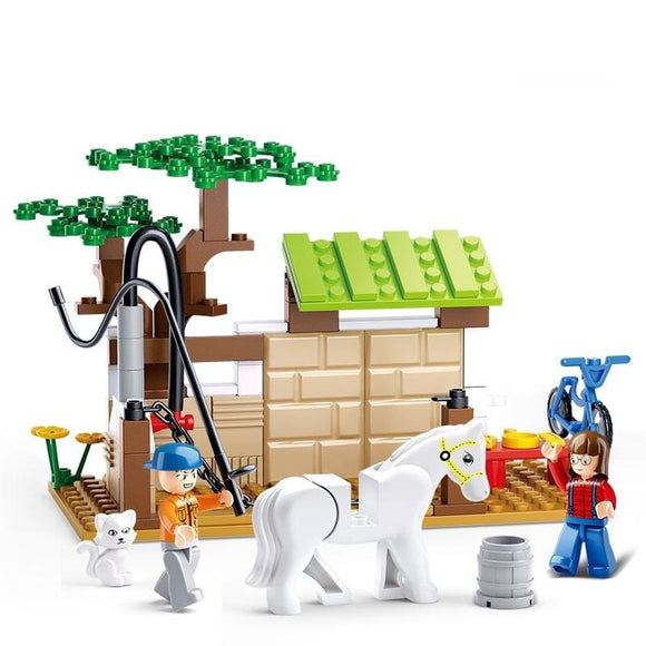 Horse Care Station Building Blocks Set