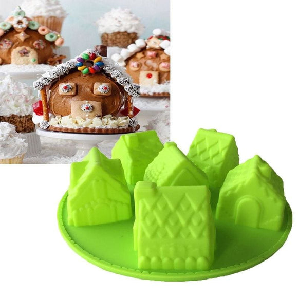 House Shape Silicone Bakeware Mold