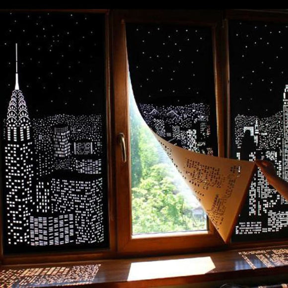 Incredible City Designs Blackout Curtains With Holes - A / China