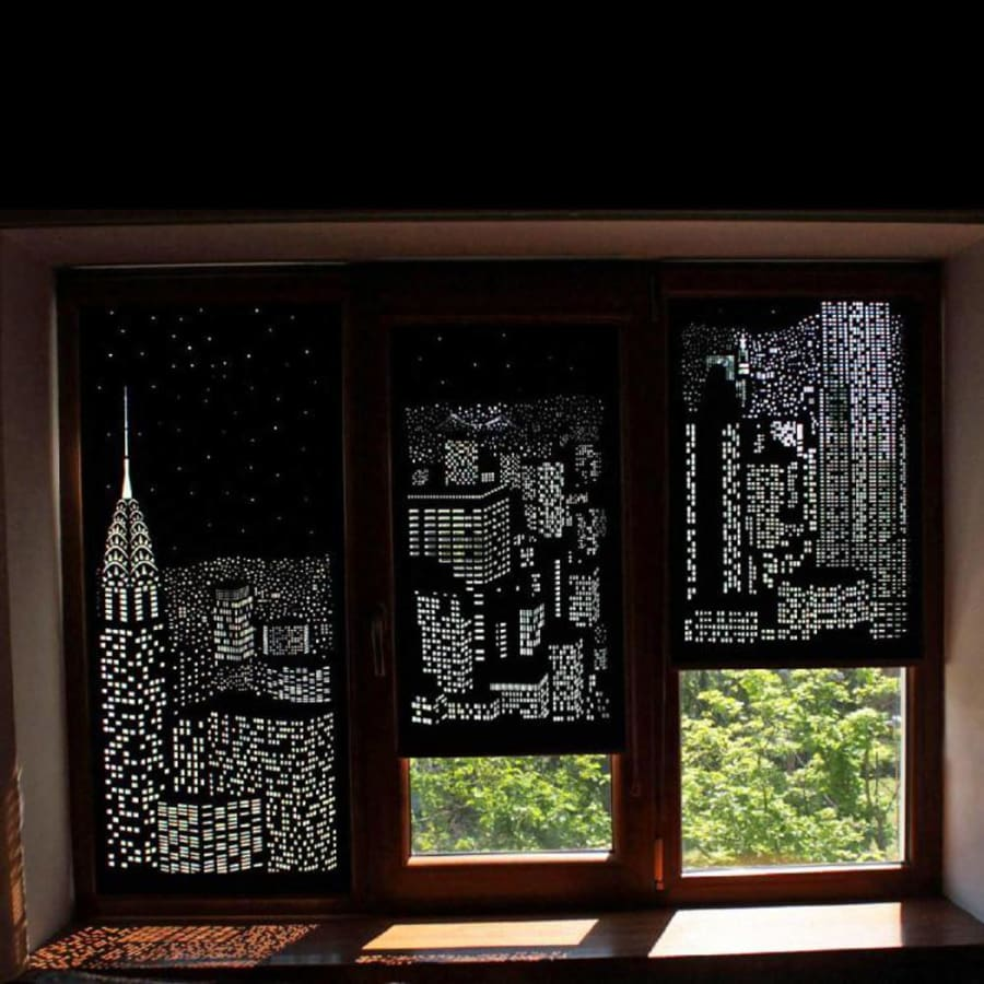 Incredible City Designs Blackout Curtains With Holes Modern Market