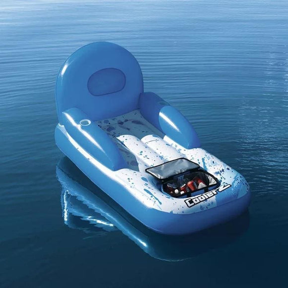 Inflatable Floating Chair with Spot for Cooler