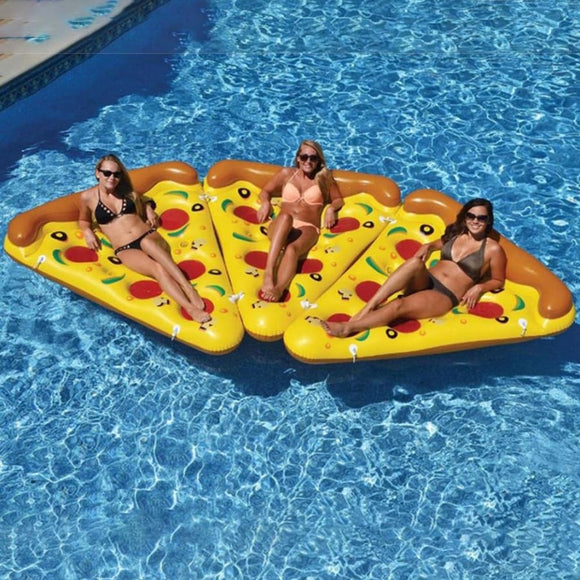 Inflatable Pizza Slice Swimming Float