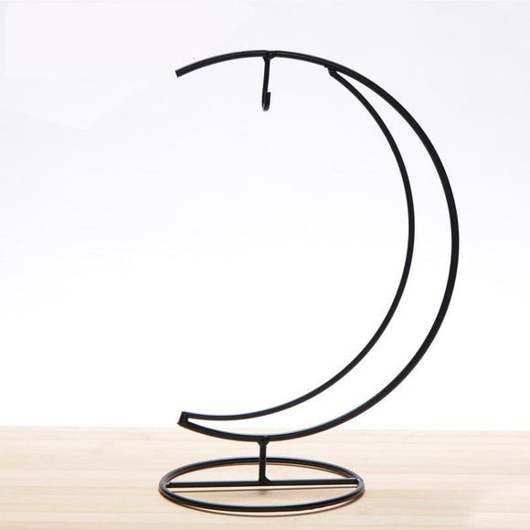 Iron Moon Shape Candle Holder