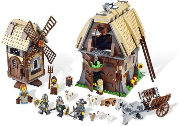 Knight Wind Mill Village Building Blocks Set