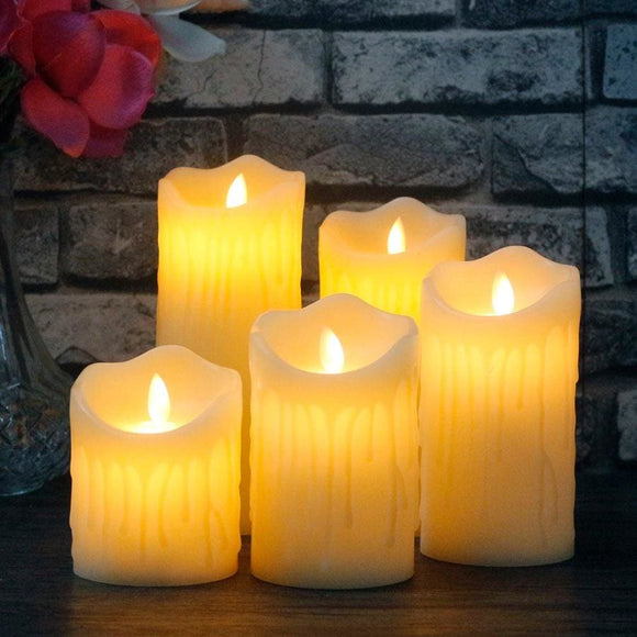 Led Flame-Less Candle - 7.5X20Cm