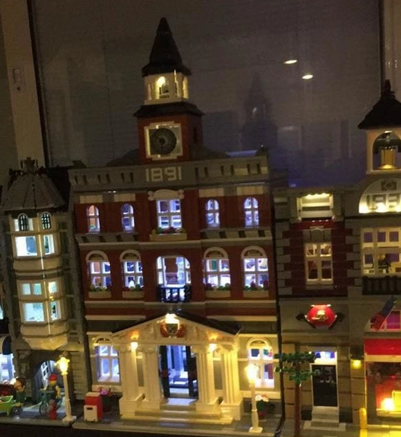 Led Light Up Kit - Town Hall Building Block Set