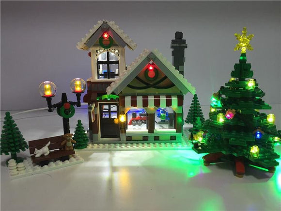 Led Light Up Kit - Winter Toy Shop Building Block Set - Only Light Kit