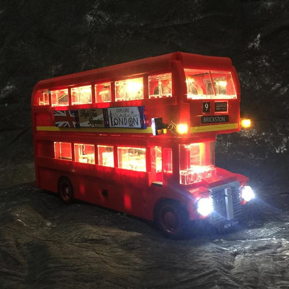 London Bus Building Blocks LED Light Kit