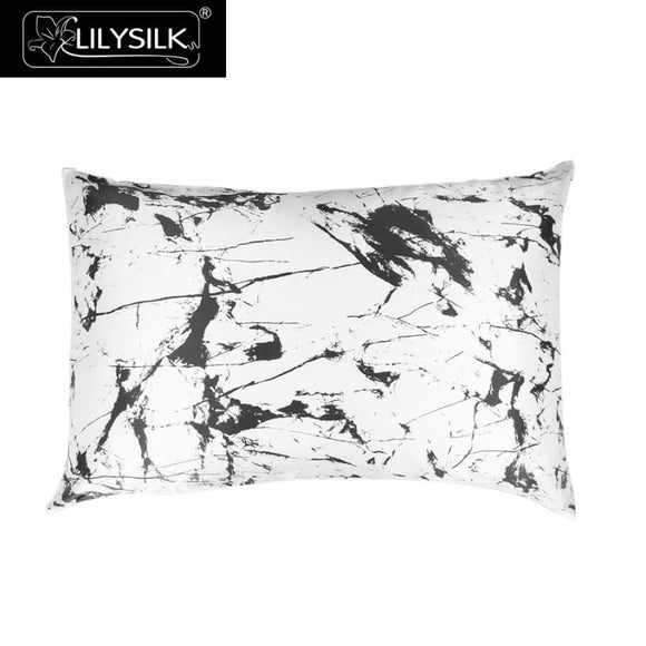 Marble Print Pillowcase - White Marble Print / 40X40Cm