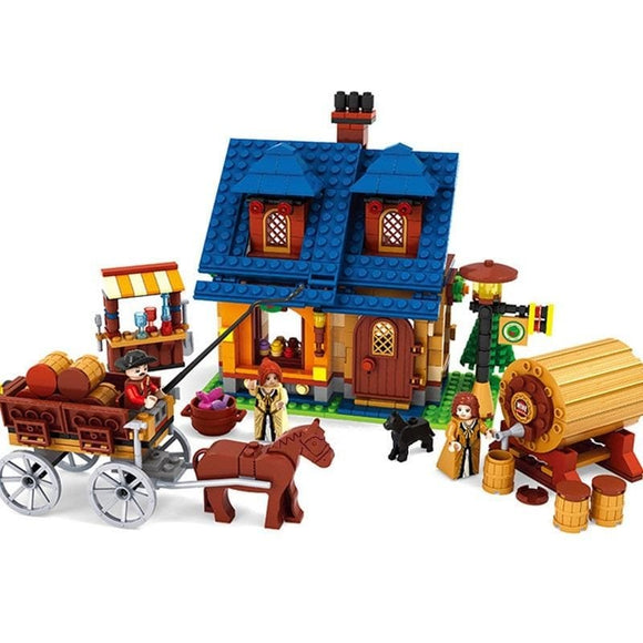 Medieval Wine House Building Blocks Set