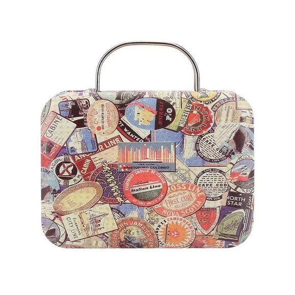 Mini Retro Vintage Europe Type Suitcase Candy Storage Case - 05