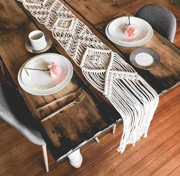 Modern Macrame Table Runner