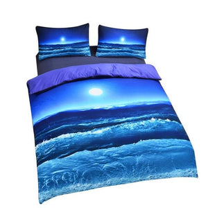 Moon Ocean Duvet Cover Set