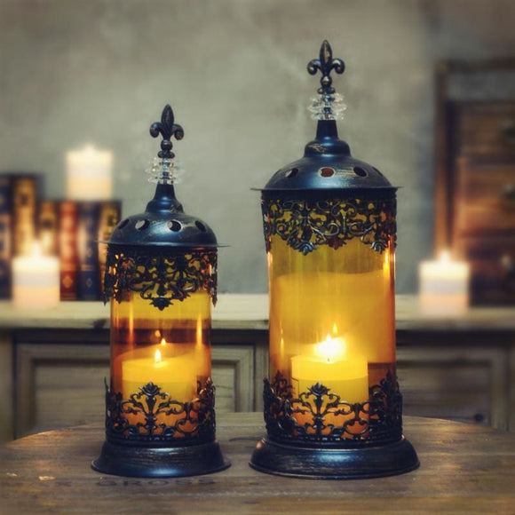 Morocco Style Wrought Iron Candle Holder