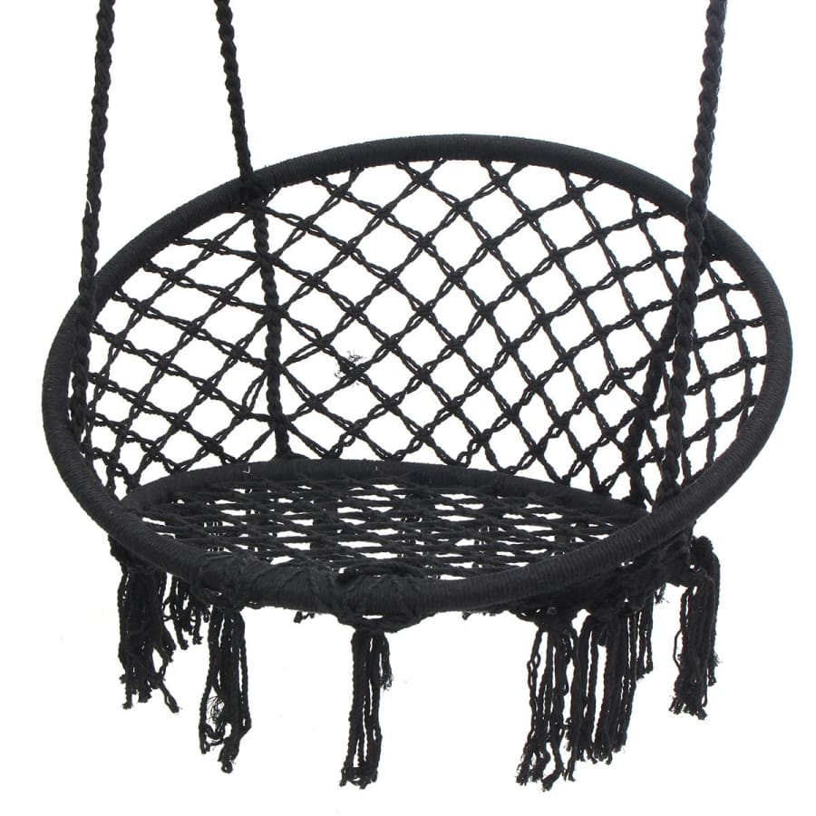 Cool Nordic Style Round Black Swinging Single Chair Hammock Ocoug Best Dining Table And Chair Ideas Images Ocougorg