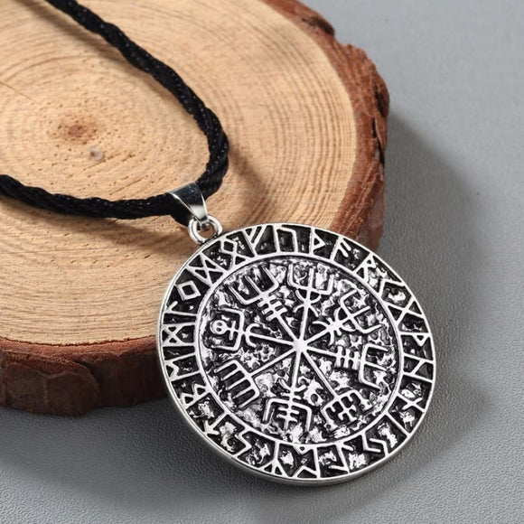 Norse Compass Runic Pendant Necklace